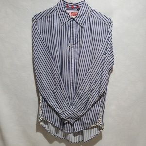 Robert Graham Mens Long Sleeve Stripped Button Up